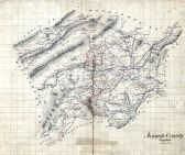 Roanoke County 186X Wall Map, Roanoke County 186X Wall Map